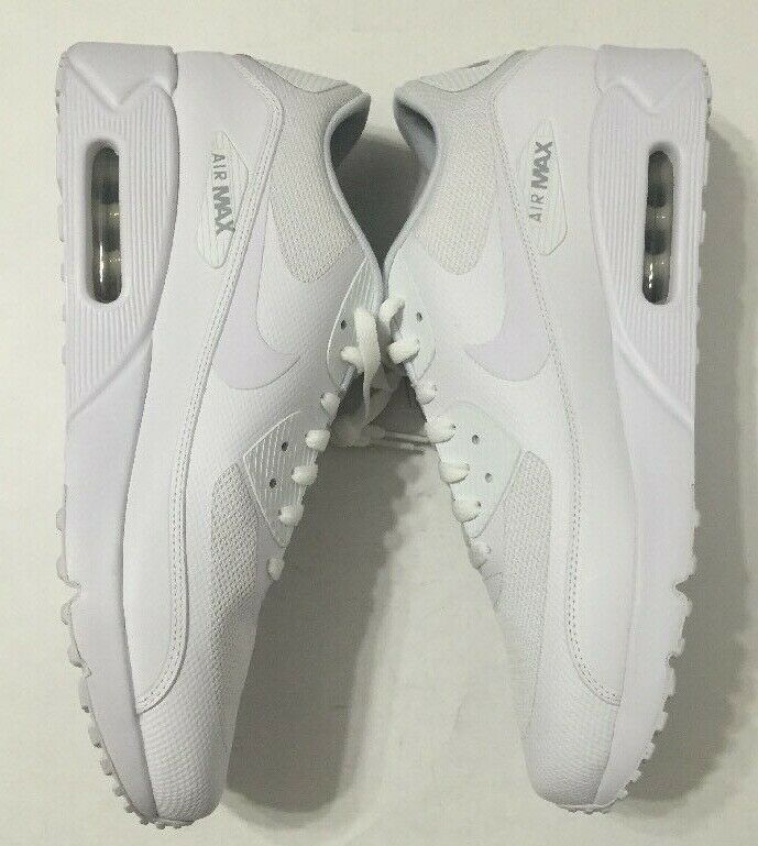 Nike Air Max 90 Ultra 2.0 Essential Shoes Triple White Mens 875695 101 Size 10
