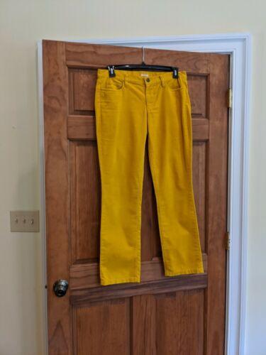 J CREW Wms Matchstick Mustard Yellow Stretch Cordu