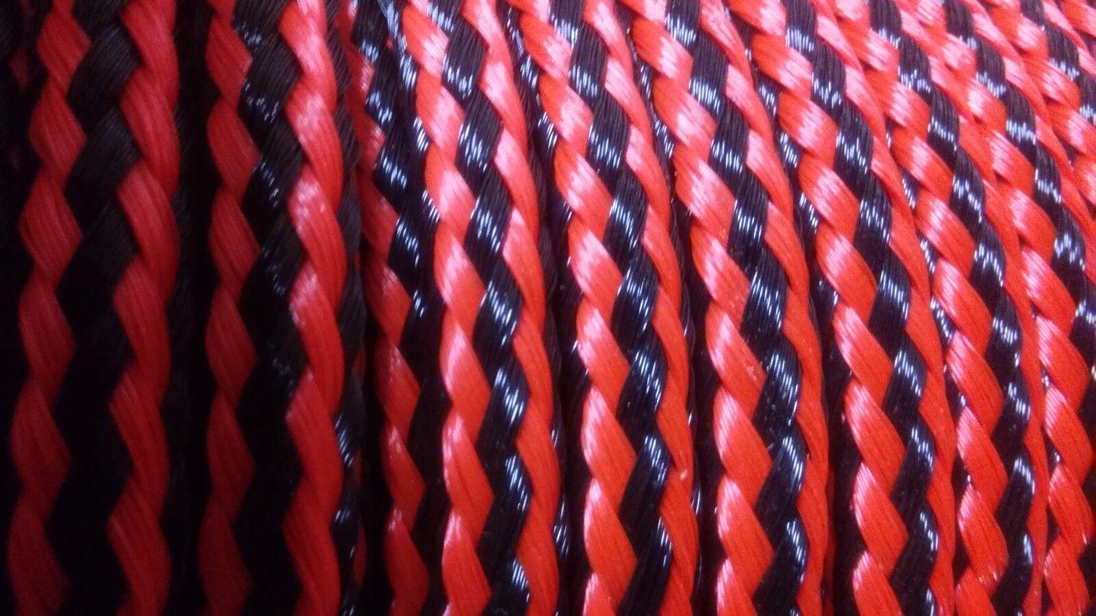 10 mm x 470 ft.16 strand Hollow Braid Polyethylene Rope.