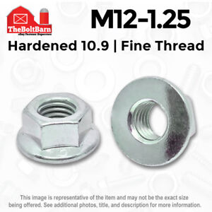 M12-1.25 MM Metric Grade Class 10.9 Hex Serrated Flange Lock Nuts JIS Fine Thread J.I.S. 2