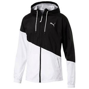 9e5014f7ce39 Details about Puma Mens ACE Windbreaker Full Zip Hooded Running Jacket