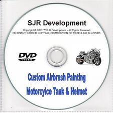 Custom Paint Motorcycle Helmet & Tank Airbrush 2 DVD Biker Chopper Bobber Chop