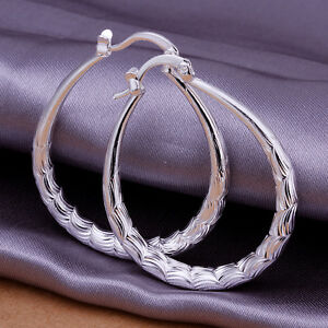 UK-Stock-Free-P-amp-P-Hot-Sale-Silver-Plated-Stamped-Earrings-Jewellery-E295