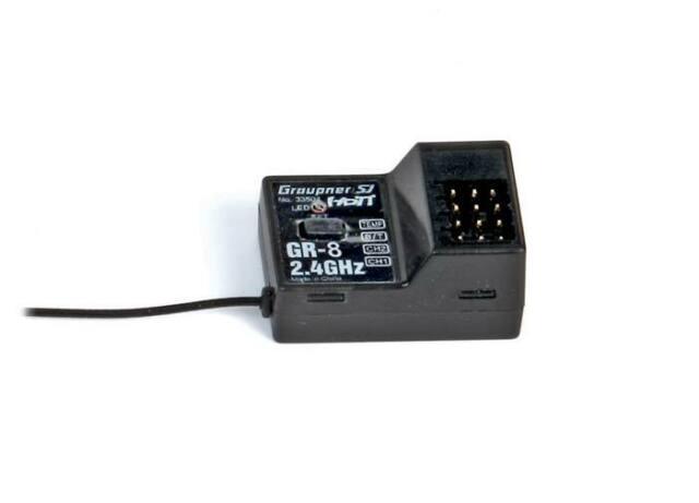 NEW Graupner 33504 GR-8 4-Channel HoTT Telemetry Receiver FREE US SHIP