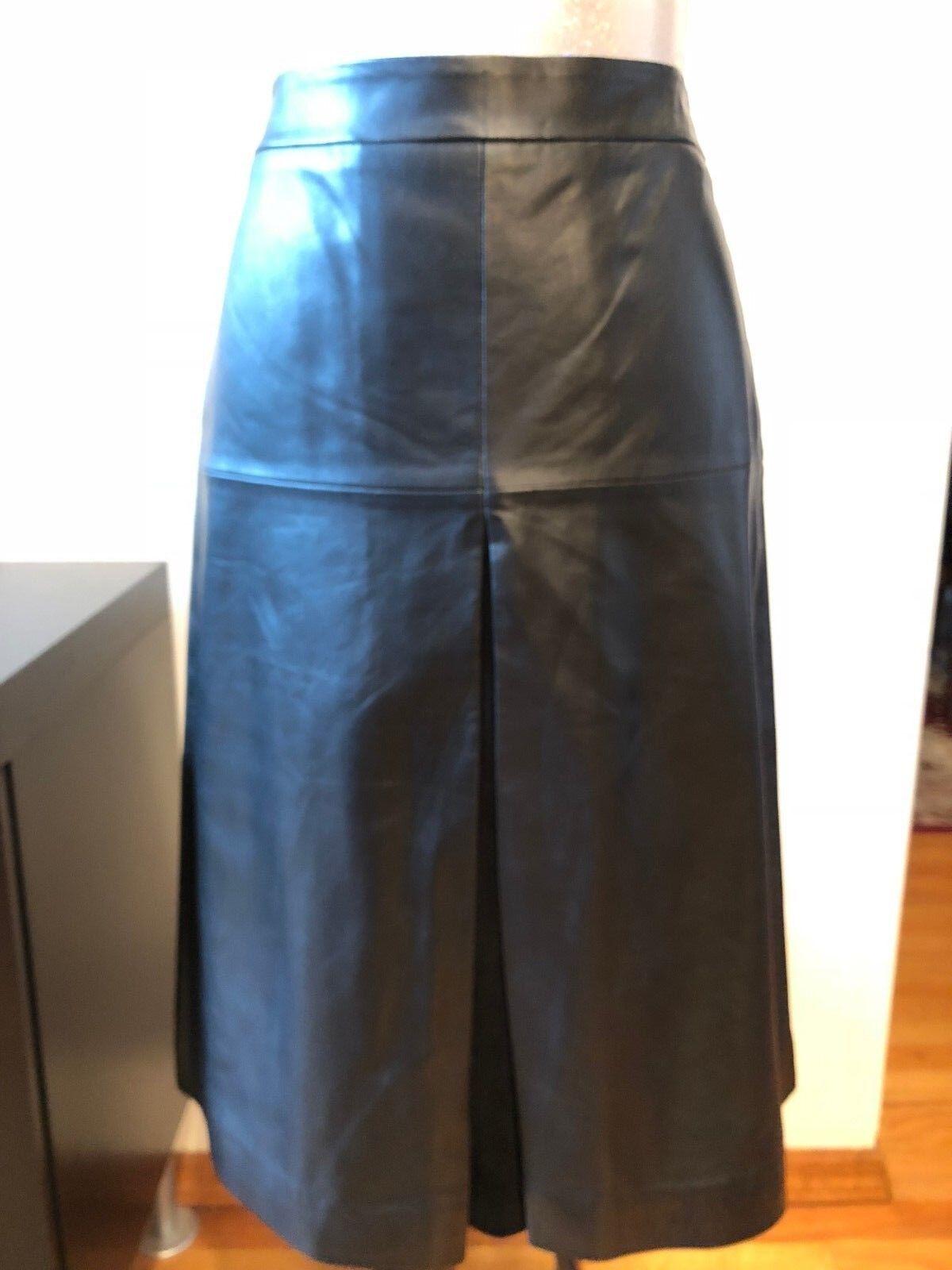 Nouveau Halogen cuir une ligne jupe Größe 4