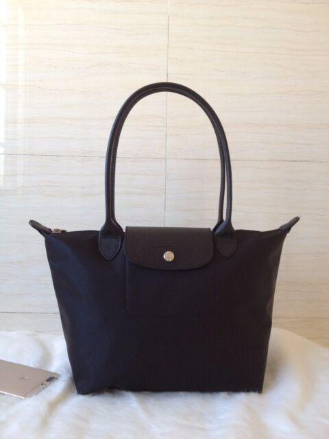 100 Auth Longchamp Le Pliage Neo Small Tote Bag Black 2605578001