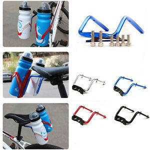 Bicycle-Cycling-Seat-Post-Back-Double-Water-Bottle-Holder-Cage-Rack-Adap-pF