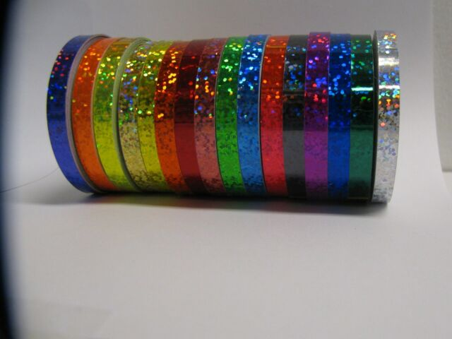 Glittering Sparkle Tape Choose your Color and Size Holographic Sequins Glitter