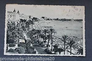 Tarjeta-Postal-Antigua-Postal-Cannes-El-Bulevar-de-La-Croisette