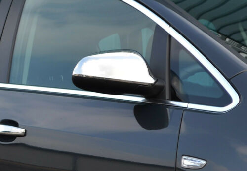 Opel Astra J Chrome Wing Mirror Trim Set Covers To Fit Vauxhall 2010-16