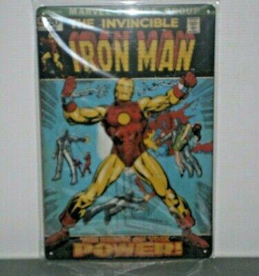 MCIM1 THE INVINCIBLE IRON MAN Marvel Comics  Metal Sign New 30 cm H X 20 cm W