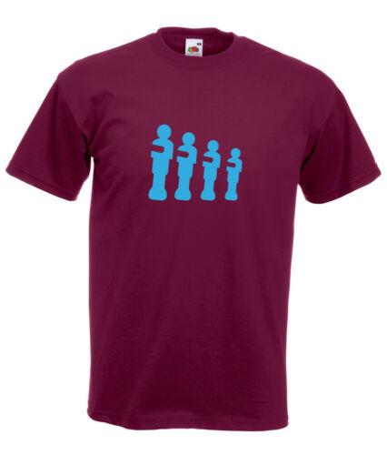 Table Football Villa Silhouette Claret /& Blue Design Men/'s Burgundy T-Shirt