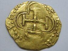 PHILIP II COB 1 ESCUDO SEVILLA GOLD DOUBLOON 1556-1598 SPANISH COLONIAL SPAIN