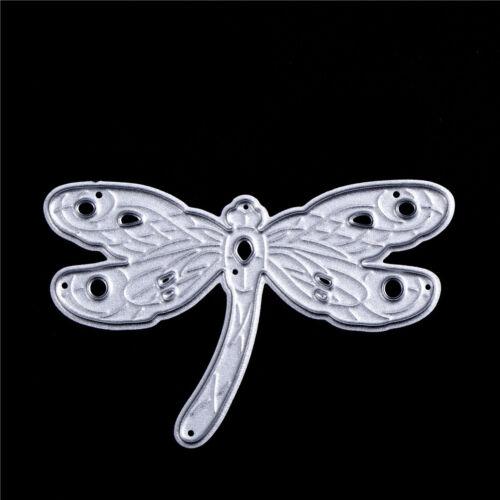 2pcs Dragonfly Metal Cutting Dies For DIY Scrapbooking Embossing Folder Decor FG