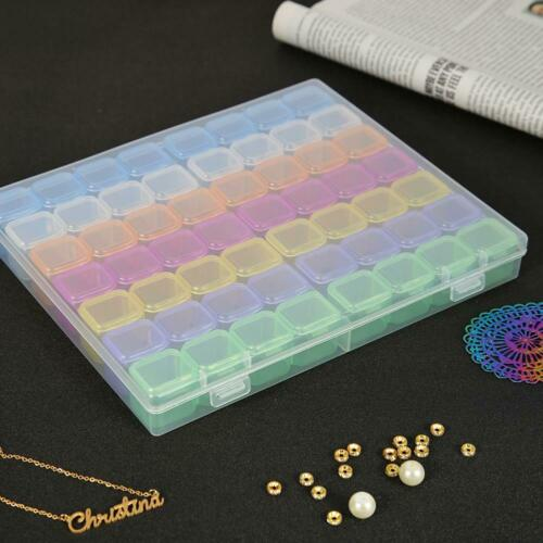 Details about  /56 Slot Jewelry Storage Boxs Diamond Embroidery Crystal Organizer Display Case