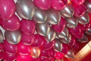Party Supplies Home & Garden 30 16th Birthday Wedding Anniversary Foil Balloons Pink Black 10 Pannu baloon