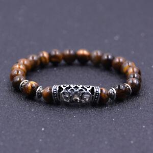 Fashion-Natural-Stone-8mm-Gemstone-Beads-Women-Men-Bracelets-Charm-Jewelry-Gift