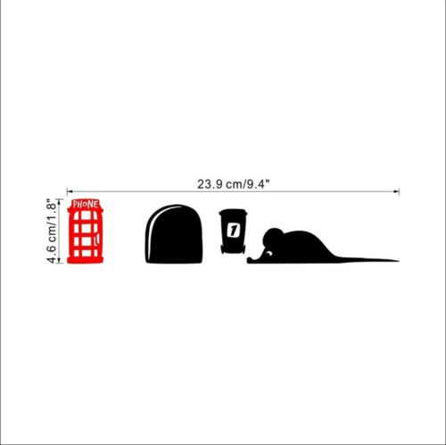 Mouse House Wall Decal Rest Chair Silhouette Sticker Corner Decoration DIY Decor