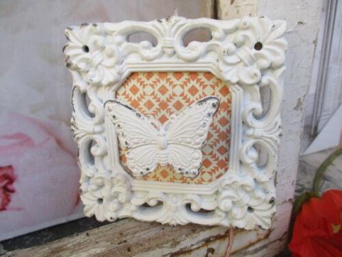Haken Metall Schmetterling Shabby weiß Garderobenhaken Wandhaken Vintage Fliese