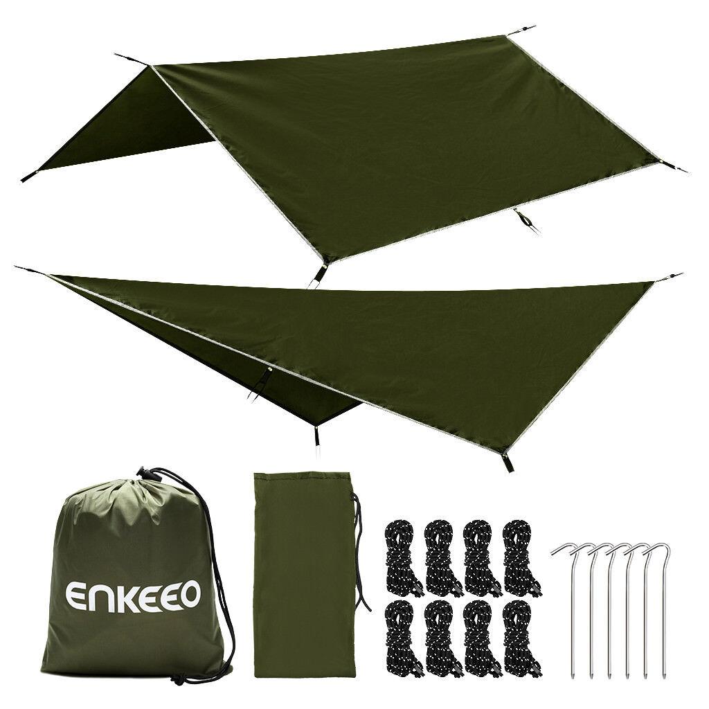 Enkeeo Portable Camping Bâche Pêche Tente Imperméable Mouche Mouche Mouche Hamac 2.9 2.9M 02927a