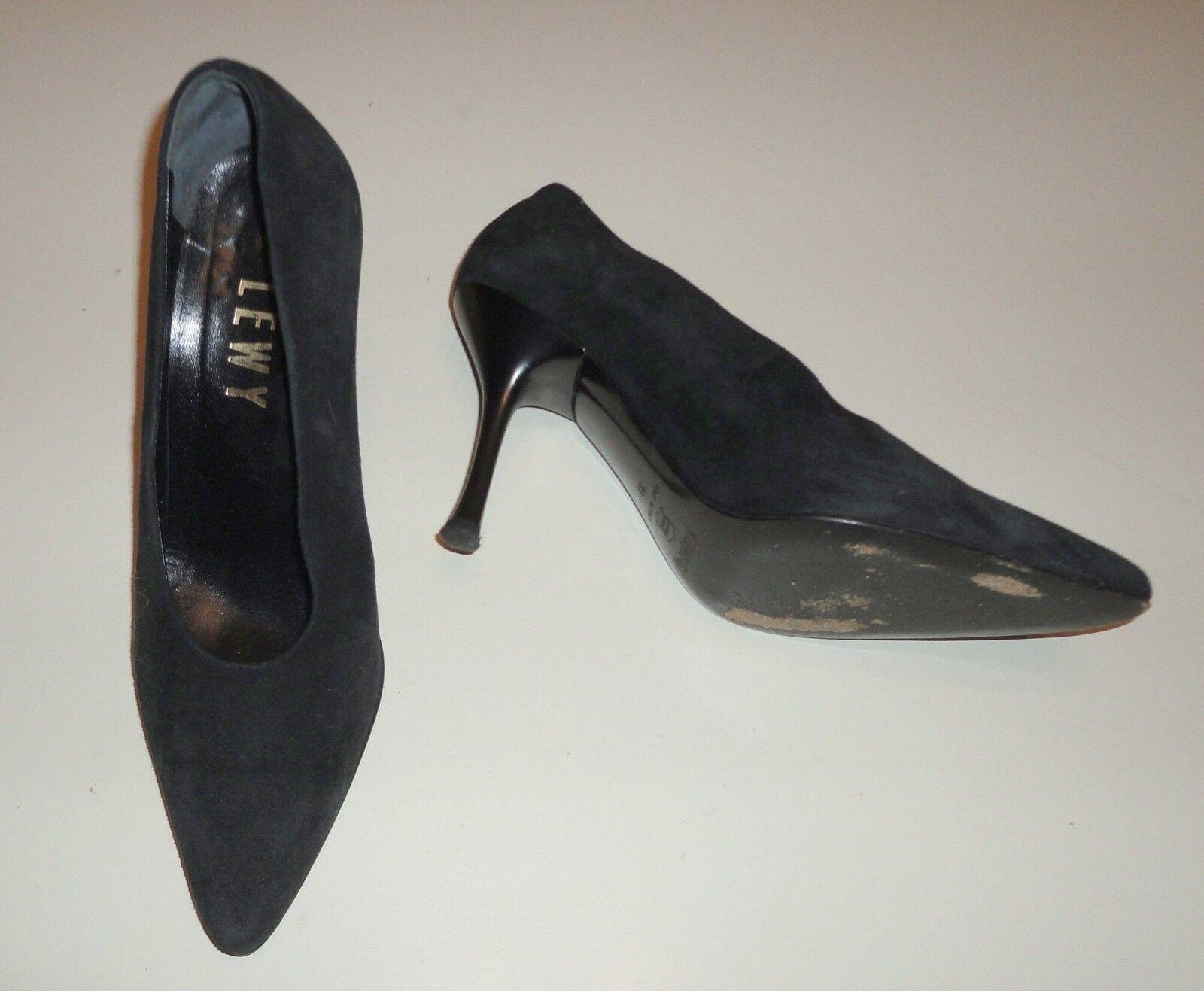 Damenpumps High Heels Stiletto STRATEGIA Wildleder schwarz Gr.39  Made in
