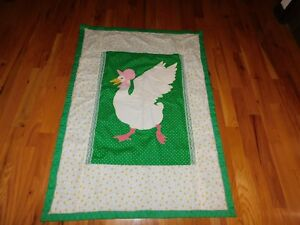 Mother goose baby quilt handmade applique vintage ebay