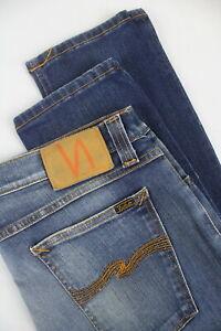 NUDIE-TIGHT-LONG-JOHN-SUPER-BLUE-Men-039-s-W32-L34-Tight-Fit-Stretch-Jeans-5351-mm