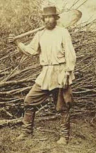 FRENCH 1800s MEN LONG SMOCK SHIRT~WHITE LINEN~ARTI