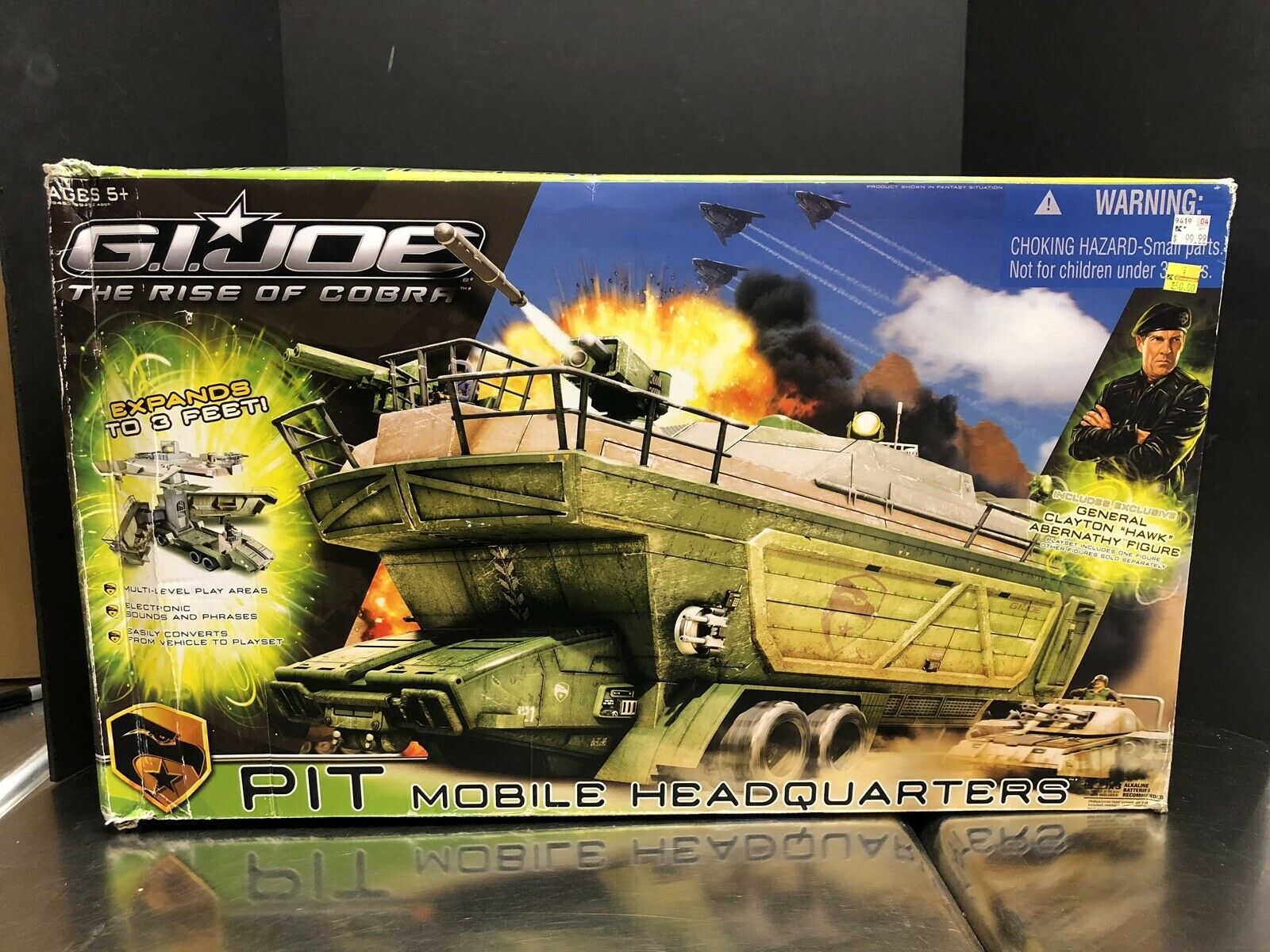 Gi Joe Rise Of Cobra Pit móvil 2009 oficina central con caja que 0146