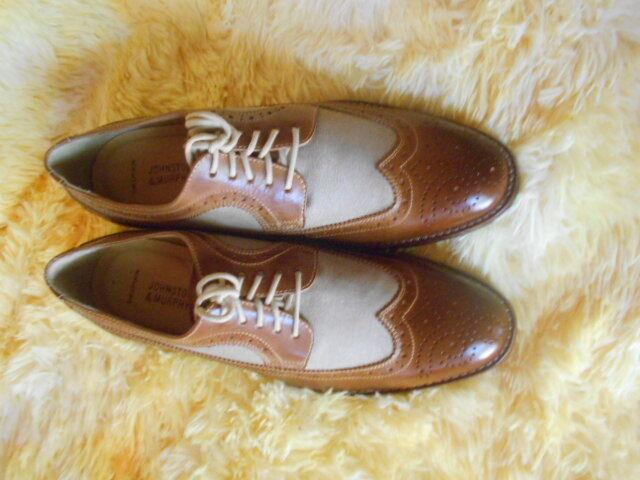 grandi offerte Uomo Johnston & Murphy Warner Wingtips Dimensione 8.5 (D,M) (D,M) (D,M) Dress Solid Marrone Leather  scegli il tuo preferito
