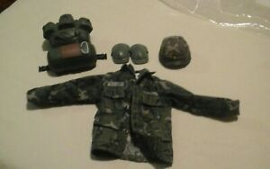 "1:6 Dragon US Army Delta Gary Gordon Black Knee Pads 12/"" GI Joe BBI DamToys BHD"