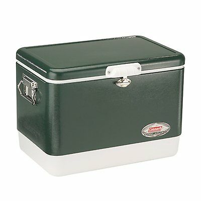 Coleman 54 Quart Steel-Belted Cooler 85 Can Capacity Rust-Resistant | 6154B720G