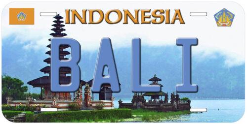 Bali Indonesia Aluminum Novelty Car License Plate