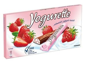 Details about Yogurette - strawberry chocolate - four (4) bars - original  german brand*