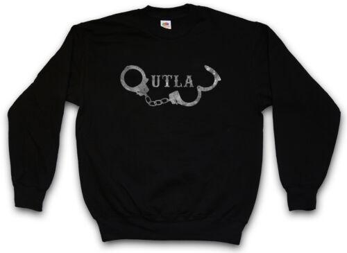 OUTLAW HANDCUFFS SWEATSHIRT PULLOVER Anarchie Gangster Handschellen MC Cuffs