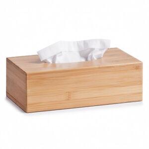Kosmetiktuchbox kosmetiktuch donneur Bambou Bois kleenexbox taschentuchbox NEUF  </span>