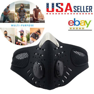 Cycling Half Face covers with Filter Dustproof Motorcycle Mouth-muffle Covers US