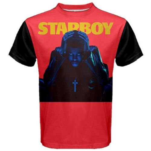 The Weeknd Weekend Starboy Music Men/'s Sports Tee T-SHIRT WSB1