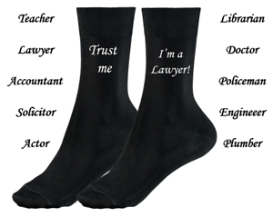 Details about Trust Me I'm a Doctor, Teacher, Lawyer, Accountant, etc MENS  SOCKS Novelty Gift