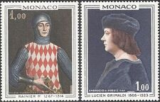 Mónaco 1969 Príncipe Rainiero I/Lucien GRIMALDI/Royal/realeza/Art 2v Set (n43822)