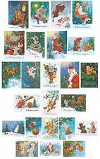 24x Christmas postcards! Happy New Year! USSR artist Zarubin! Postcrossing set