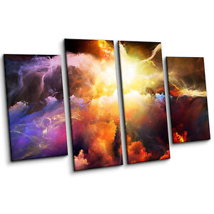 Multi-Coloured-Energy-Of-Nebula-Space-Large-Contemporary-Wall-Art-Canvas-Print