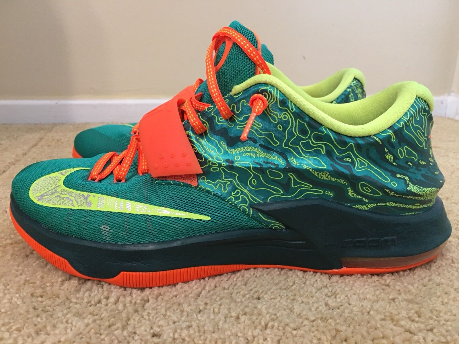 Nike KD VII Weatherman Emerald Green, 653996-303, Mens Basketball shoes, Size 13