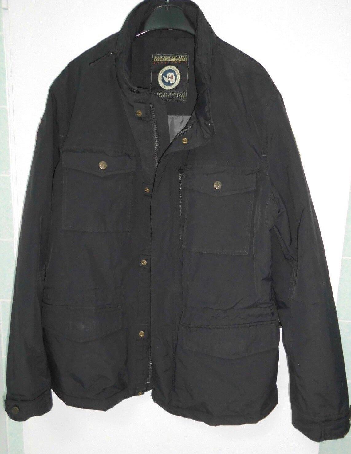 ac4404994b8 Napapijri Veste Parka Parka Parka Transition Noir XL capuche poches Outdoor  comme neuf 41dc40