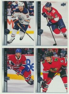 2020-21 UPPER DECK HOCKEY SERIES 1 French Base Pick Your Card Finish Your Set