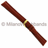 18mm Morellato Tan Padded Hand Stitched Genuine Leather Watch Band