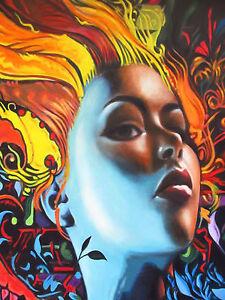 Graffiti-Street-Art-Print-urban-princess-girl-face-80cm-canvas-painting