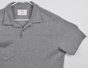 Billy Reid MSL-ALA Men's Large Heather Gray Knit Pocket Polo Shirt ...
