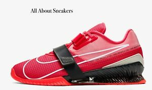 Nike-Romaleos-4-034-Laser-Crimson-Dark-Smok-034-Men-039-s-Trainers-Limited-Stock-All-Sizes