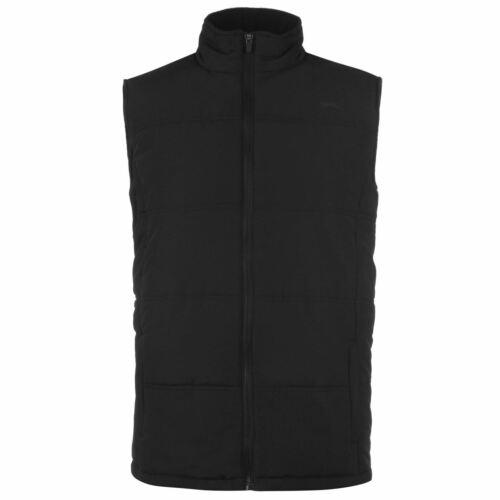 Slazenger Padded Gilet Mens Gents Heavy Quilt Sleeveless Jacket High Neck Zip